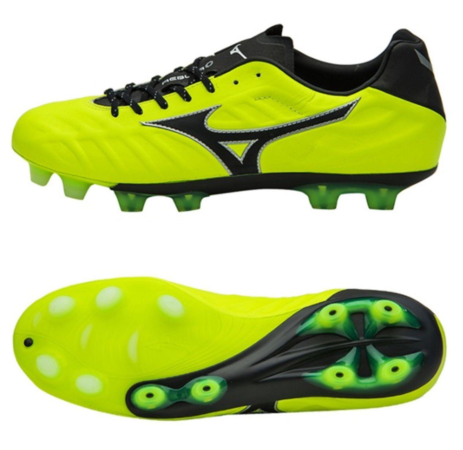 Mizuno Hombre Rebula V1 MD Tacos fútbol VOLT negro zapatos de fútbol Spike P1GA188145