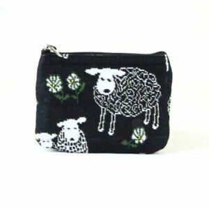 Erin Knitwear Top Zip Purse - Black