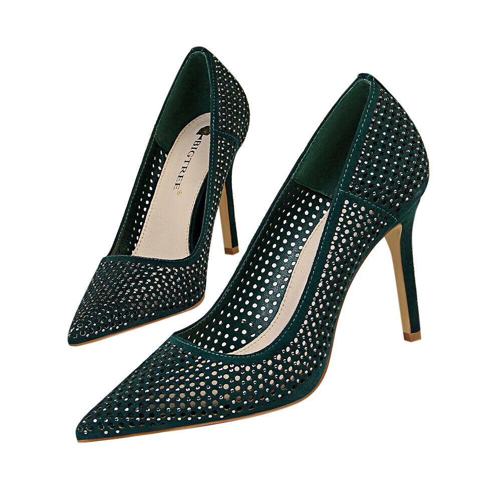 Mode Femme Sexy Talon Aiguille Mariage Fête Escarpins chaussures
