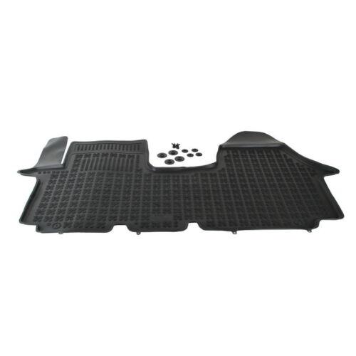Fußmatten 1 Stück Schwarz Gummi Nissan Primastar I ab 2001 Vorderseite