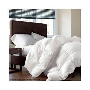 goose down alternative comforter white set size twin queen king ebay. Black Bedroom Furniture Sets. Home Design Ideas