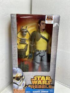 "NEW Star Wars Rebels Kanan Jarrus 12/"" Figure Toy Hero Series Hasbro NIB Disney"