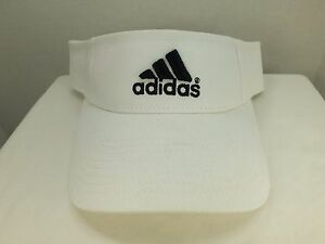 3addb2d73c1 VINTAGE adidas WHITE SUN VISOR 90 S Adjustable HAT NEW CAP BY adidas ...
