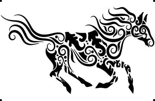 A4 A3 A5 ART DECO HORSE paint spray Reusuable stencil Premium mylar