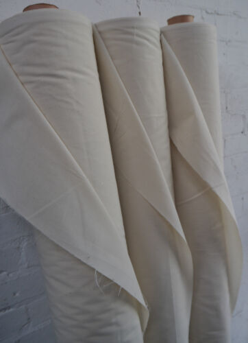 "100/% Natural Cotton Calico Fabric Medium Weight 145gsm 63/"" Handcraft 1M RRP£8.99"