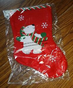 Avon Bernard The Polar Bear Holiday Red Felt Applique