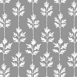 Camelot Cottons Imaginarium 2140404 3 Leaves Grey BTY Cotton Fabric FREE US SHIP