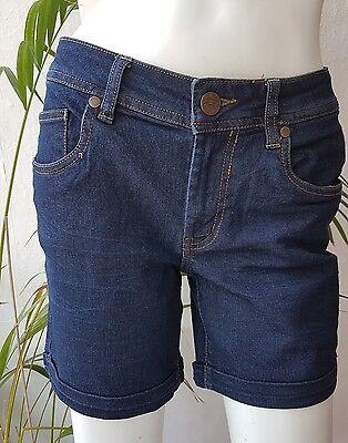 Damen Jeans Hotpants Shorts Bermuda kurze Hose in Jeansblau  34-38 #O96