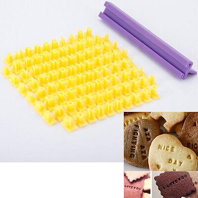Hot Alphabet Numbler Cookie Biscuit Letter Stamp Embosser Fondant Cake Cutter #T