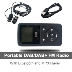 DAB-DAB-Digital-Radio-Receiver-Taschenradio-BT-MP3-Player-mit-Kopfhoerer