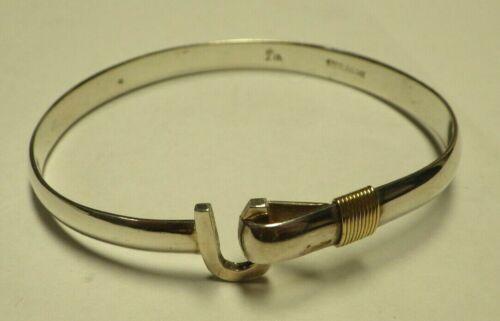 Sterling Silver 14K Gold Caribbean Hook Bracelet