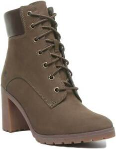 Womens Casual Heeled Ankle Boots