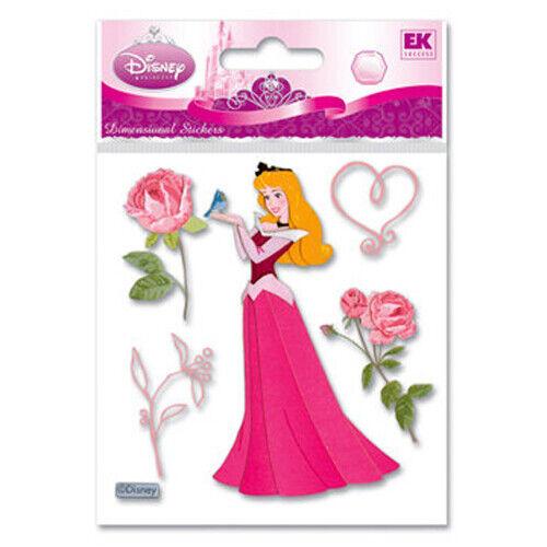 Disney Sleeping Beauty w// Rose Dimensional Sticker Scrapbooking Card Making
