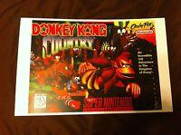 Donkey Kong Country 11x17 Box Art Poster - Super Nintendo Snes No Game -