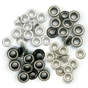 We R Memory Keepers - Standard Eyelets - Cool Metal