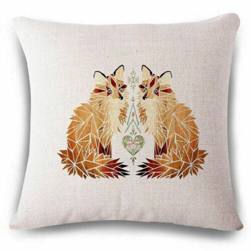 Fox Linen Cotton Fashion Throw Pillow Case Cushion Cover Home Sofa Decor 18/'/'