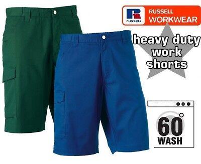 Premium Russell 002 M in Policotone Twill Workwear Pantaloni Corti In Teflon Cotone Twill