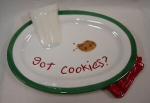"FIGI ""Got Cookies"" Santa's Cookie Plate"
