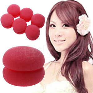 6-pcs-Soft-Balls-Soft-Sponge-Hair-Care-Curler-Rollers-New