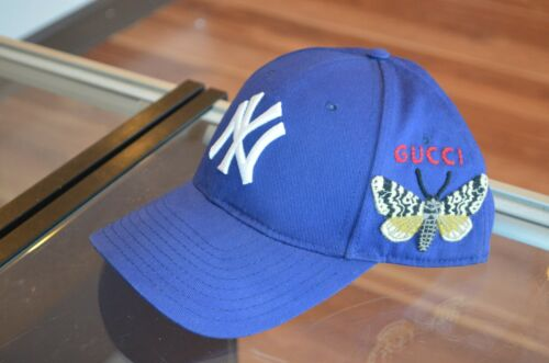 Gucci Baseball Cap Butterfly Embroidery NY / New Y