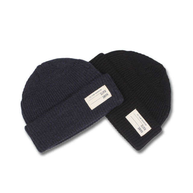 757e28aea WW2 40s Navy Watch Cap USN Wool Knit Cap Replica Winter Thick Hat For Unisex