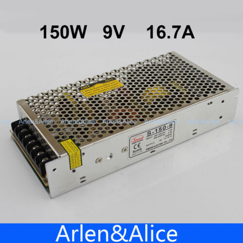150 W 9 V 16.7 A Single Output Switching Power Supply For DEL Strip Light AC à DC