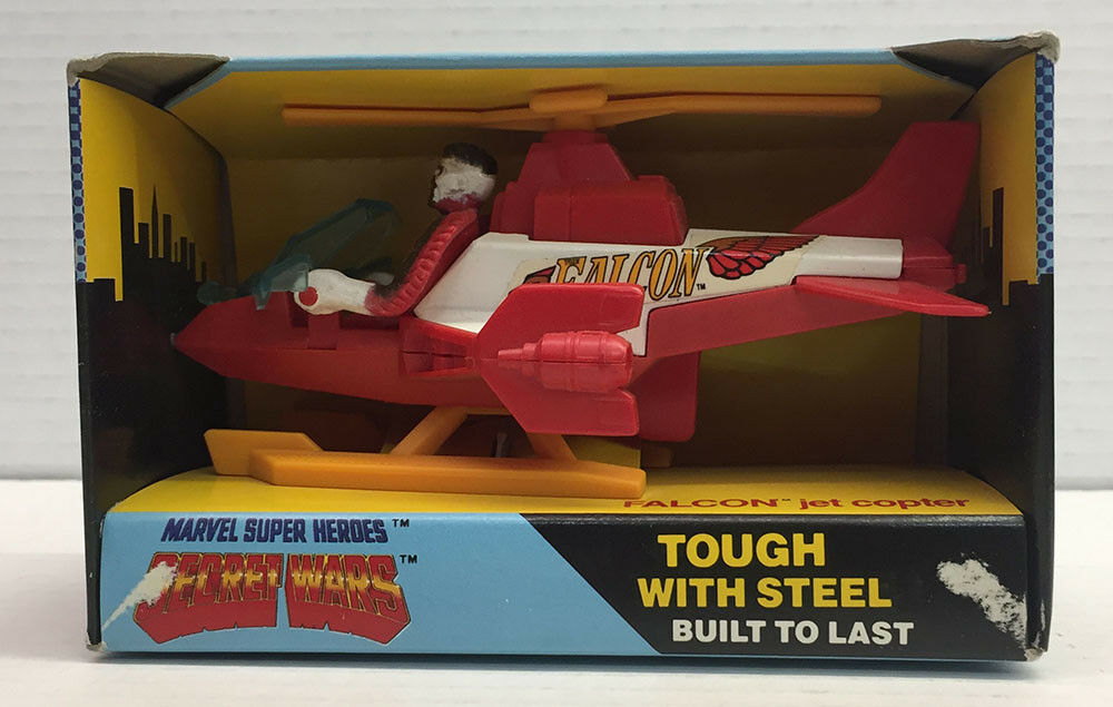 FALCON JET COPTER 9.0 MARVEL SECRET WARS SEALED BUDDY L 1985 B