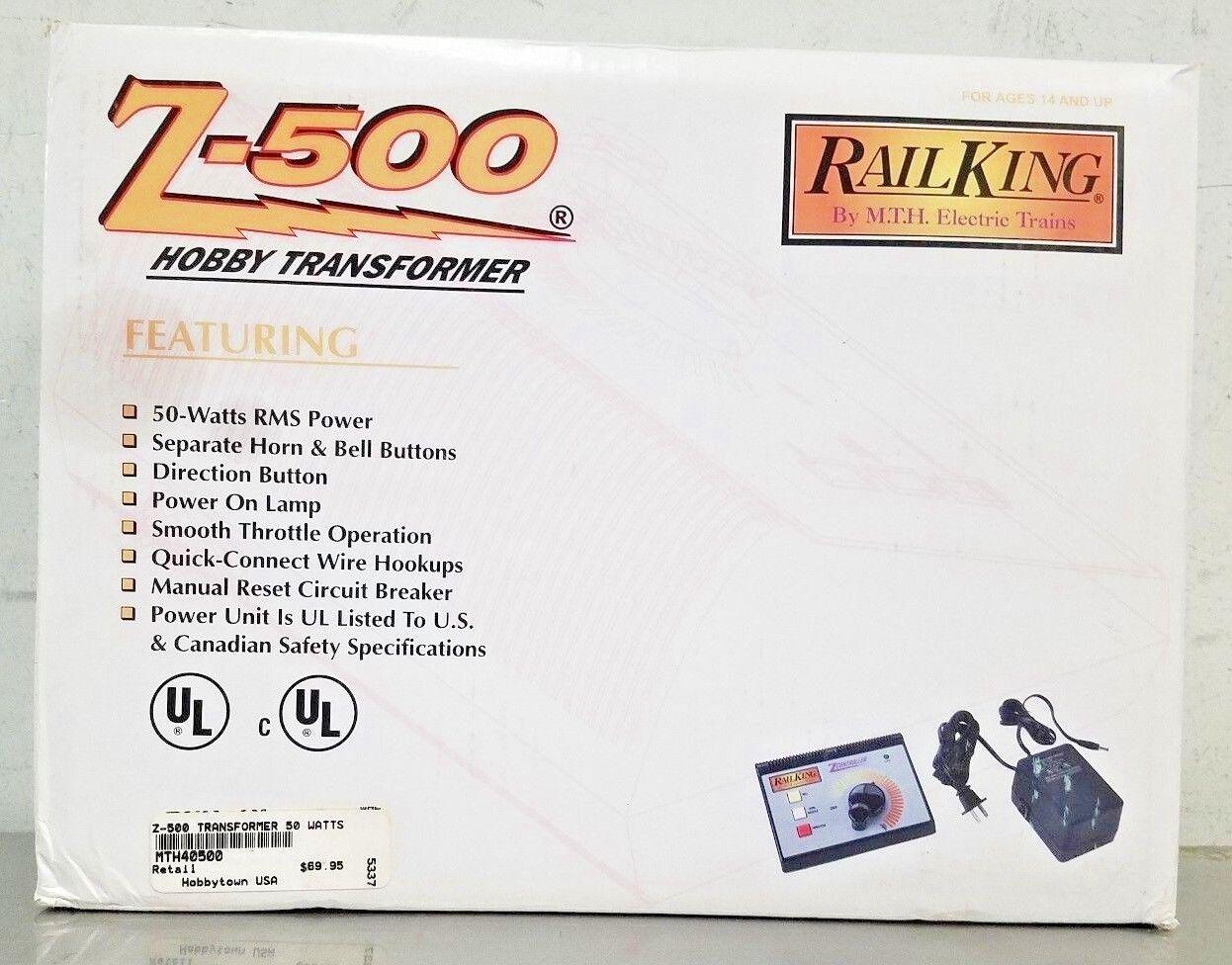 Mejor precio MTH MTH MTH rail king Z-500 Hobby Modelo RR tren Transformador de 50 vatios Rms Power 40500  deportes calientes