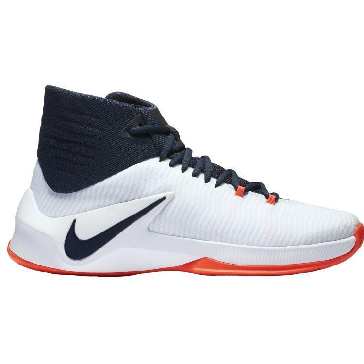 Nike Men's Zoom Clear Out Basketball Shoes Shoes Shoes 844370-146 White/Obsidian b4fa06
