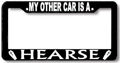 Hearse license plate frame holder