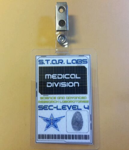 Labs Bio Medical Division cosplay prop costume S.T.A.R Flash//Arrow ID Badge