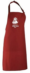 Santa is a West Ham Fan Christmas Apron.Secret Santa Gift