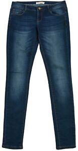Promod Women's ladies Jeans Denim Shinny Dark Blue Zip EUR-40 UK-12 US-8