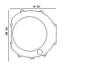 kawasaki kz1000 kz1100 zx1100 zn1100 clutch cover gasket 11060-1070 on  kawasaki ke175 wiring diagram