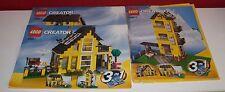 Lego Creator,Haus Ferienhaus,4996-1,-2,-3,Instructions Manuel,ohne Steine,(2)