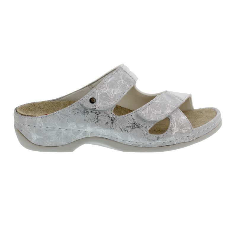 Berkemann Janna, silver Glam Flow   Stretch, Pantolette Weite E-H 1027-706