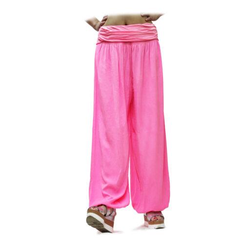 Glamexx 24 XXL leggero Pump Pantaloni Harem Pantaloni Casual in Tessuto Colorato Estate Pantaloni