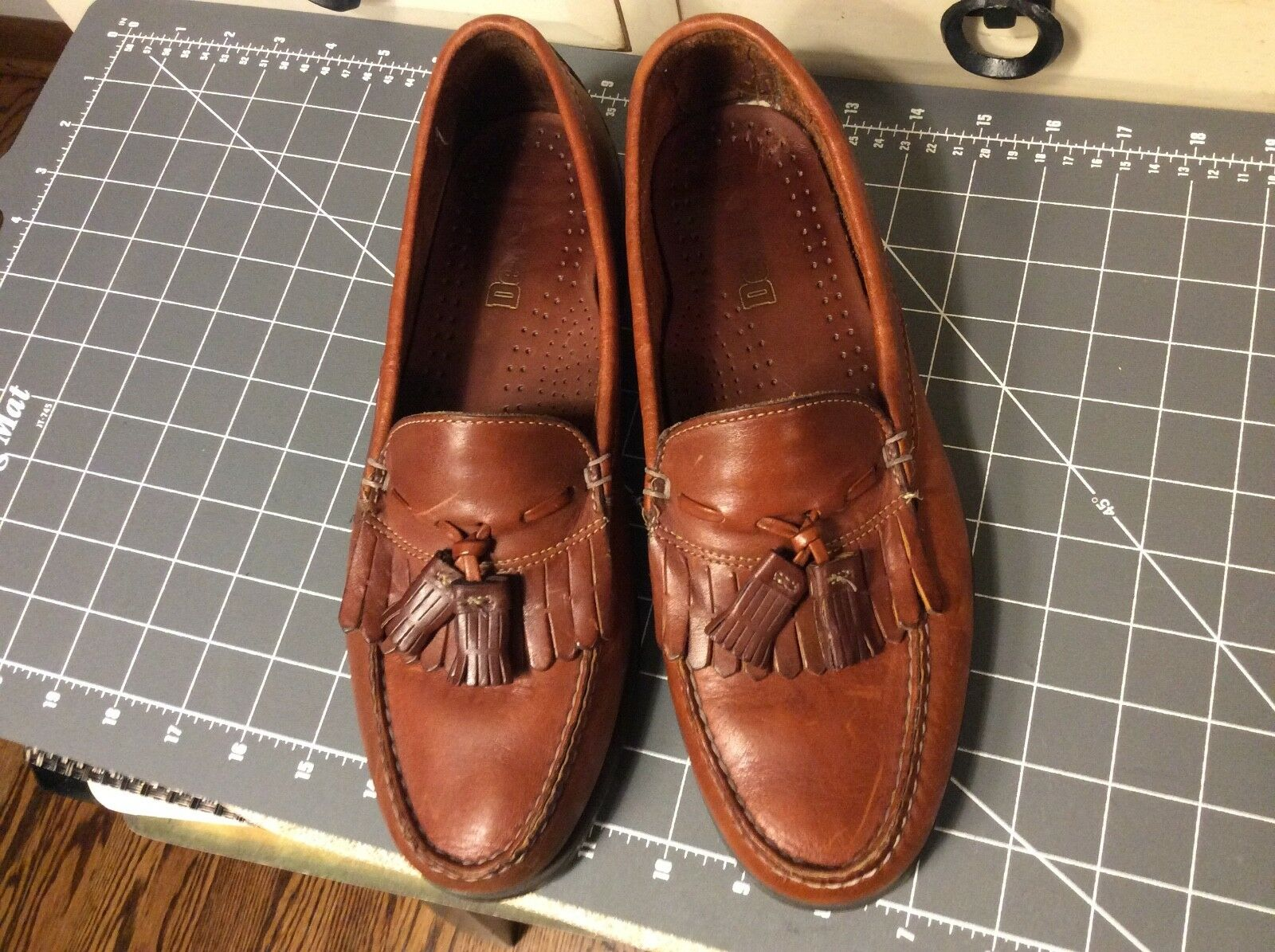 VTG DEXTER  LOAFERS shoes  Brown Size 9.5 Mens MADE IN USA Handsewn