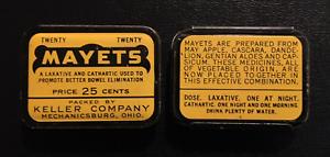 1940/'s Mayets Laxative Tin Mechanicsburg OH