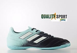 finest selection a40a2 c06dd Image is loading Adidas-Ace-17-4-Indoor-Celeste-Blue-Shoes-