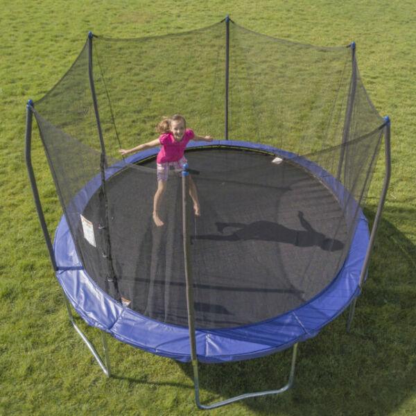 Skywalker 12-ft Round Blue Backyard Trampoline With ...