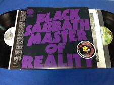 Black Sabbath Master Of Reality Rock LP IMPORT + BONUS LP Piranha Records