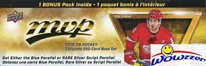 2019-20-Upper-Deck-MVP-Hockey-EXCLUSIVE-255-Card-Complete-FACTORY-SET-Bonus-Pack