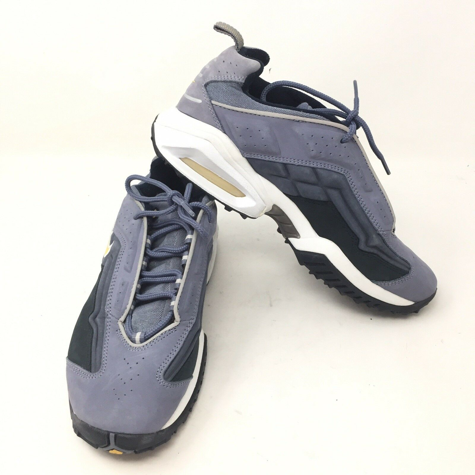 VTG NOS 174192 481 90s NIKE AIR CROSS TRAINING FIT Dad SHOES  8.5 blueee Grey C3A