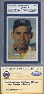 Yogi-Berra-Signed-2000-Topps-Archives-1957-Steiner