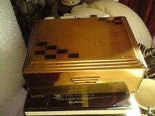 VINTAGE GOLD COLOURED METAL CIGAR/ CIGARETTE/ CARD BOX, FREE-MAILING.