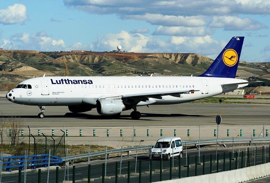 Jfox WBA320182 1/200 Lufthansa Airbus A320-211 D-AIQL nariz de fútbol con Soporte