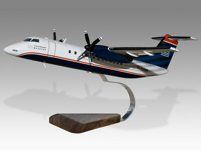 Active De Havilland Dash 8 300 Us Airways Express - Piedmont Airlineswood Desktop Model