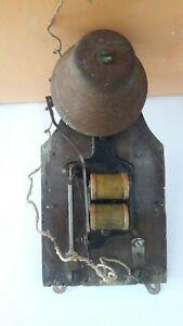 Antique electric bell, vintage brass bell 1900s Antico Campanello elettrico