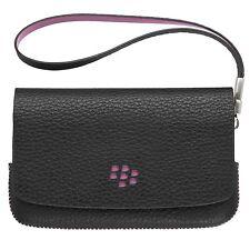 Genuine Blackberry Torch (9800) Folio (Black) (Pink Stitching & Emblem)